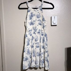 White & Blue Floral Dress